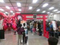 バトスピ神社では「龍皇ジークフリード」がお出迎え。