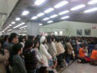 凄い大勢の人がステージ前に集まった!